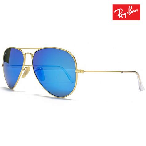 Kacamata Unisex Aviator Raibban M 25 Gold Squash Fullset ban aviator sunglasses gold blue brown rb3025 buy