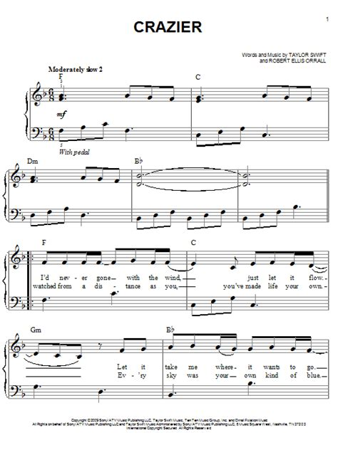 taylor swift delicate lyrics and chords crazier sheet music direct