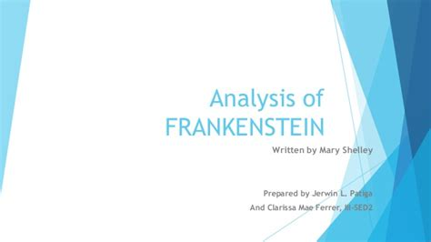 analysis of frankenstein themes analysis of frankenstein