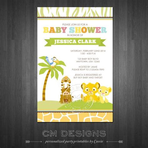 King Shower Invitations by 17 Best Images About Baby 2 Shower On Disney