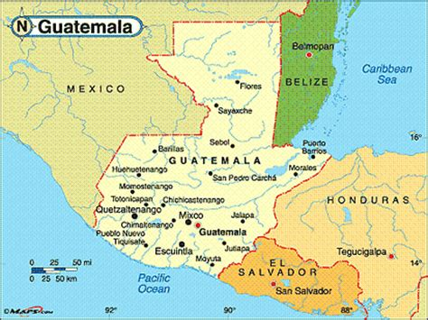 Similiar Guatemala On Map And Spain Keywords