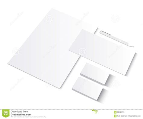 presentation cards template set of ci blank templates with business cards stock vector