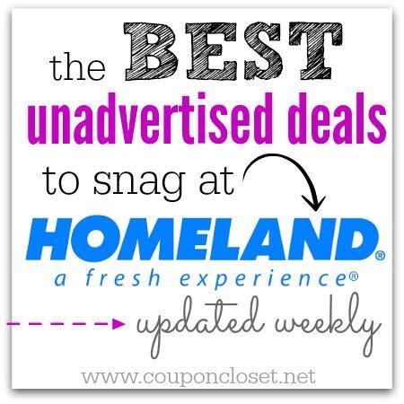 homeland unadvertised deals coupon closet