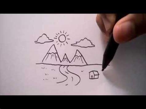 tutorial menggambar pemandangan tutorial paint menggambar pemandangan pegunungan doovi