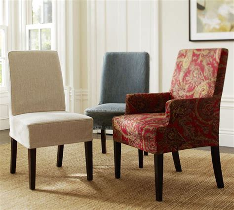 Dining Room Chair Slipcovers Photos Inspiration Rilane Slipcovered Dining Room Chairs