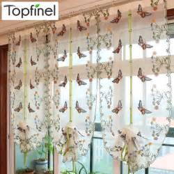 Kitchen Drapes And Curtains Popular Butterfly Kitchen Curtains Buy Cheap Butterfly Kitchen Curtains Lots From China