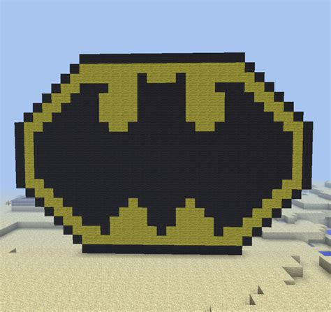my batman logo minecraft pixel art