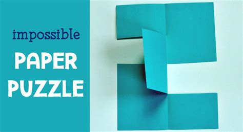 How To Make A Paper Puzzle - the amazing stupendous impossible paper puzzle