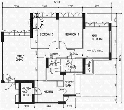 hdb floor plan bedok central hdb details srx property