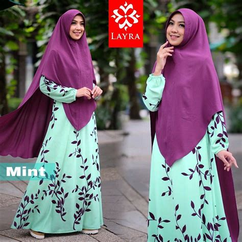 Gamis Dekey Tribal Syari By Layra Dress Busui Jilbab busana muslim terbaru model baju muslim baju gamis pusat busana gaun pesta muslim modern
