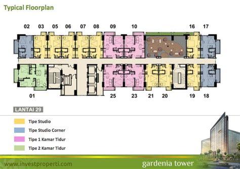 floor plan adalah casa de parco apartment tower ke 3 gardenia tower