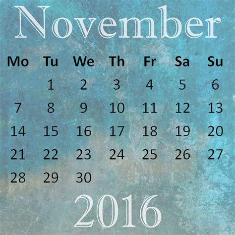 Calendar Of November 2016 November 2016 Calendar Free Stock Photo Domain