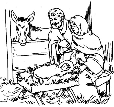 printable christmas nativity scene to colour new