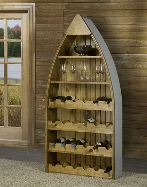 boat wine rack canoe wine rack log furniture and more