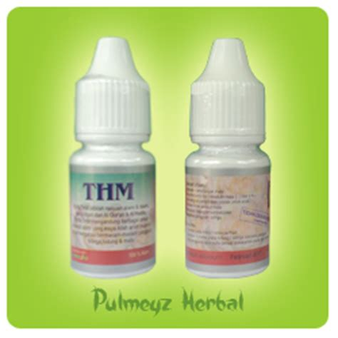 Obat Tetes Telinga Merk Thm Pulmeyz Herbal