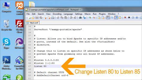 xp configure mysql to listen on a different port xampp apache won t start change port to listen 85