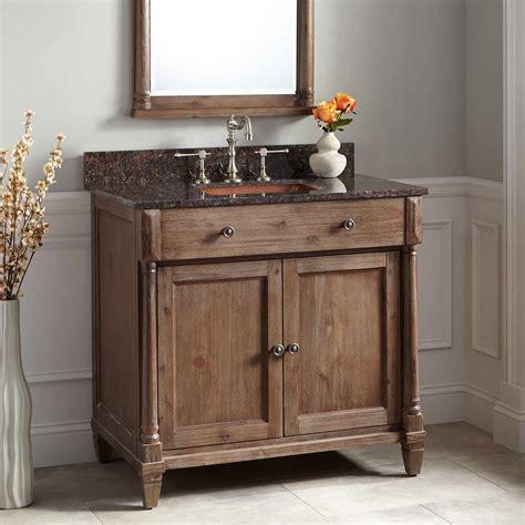 rustic double sink bathroom vanity 36 quot neeson vanity for rectangular undermount sink rustic