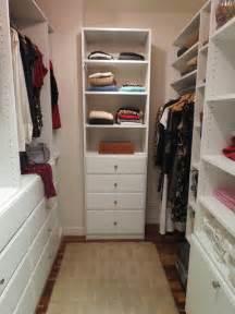 Tall Narrow Corner Cabinet Custom Walk In Closet Traditional Closet New York