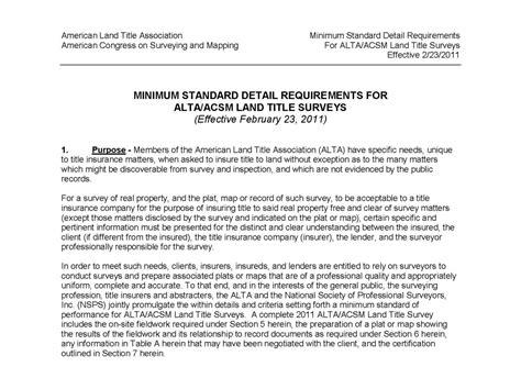 2011 alta acsm land title survey requirements evstudio