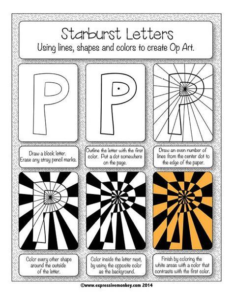 printable art sub plans art lesson op art using positive negative shapes