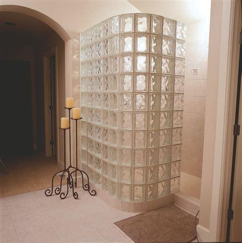 Glass Block Doors Menards Glass Block Bathroom Windows Less Glass Block Shower Constructed With 8 Quot X8 Quot Arque