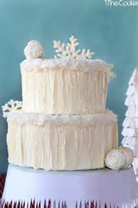 winter wonderland snow cake complete with snowflakes snowballs icicles and snow angels holy
