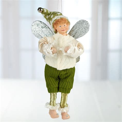 vintage inspired elf ornament new items