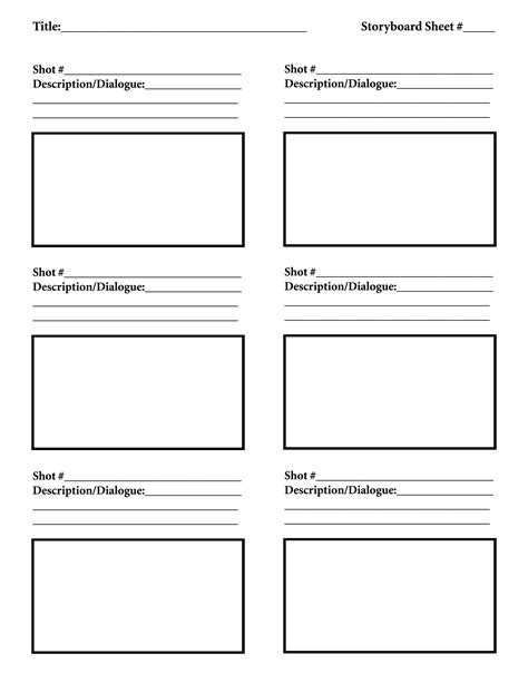 storyboard template class assignments teaching 3d and animation