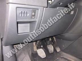 Peugeot Diagnostics Obd2 Connector Location In Peugeot 3008 2009 2016