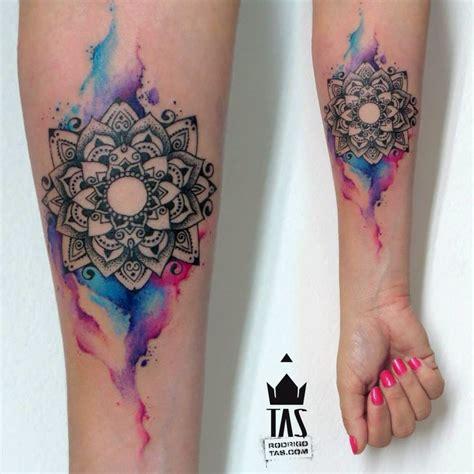 watercolor mandala tattoo mandala watercolor tattoo my style pinterest