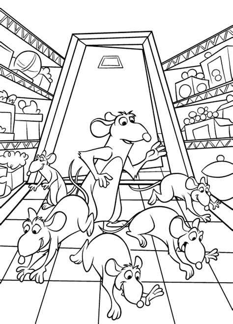 Coloring Page Ratatouille Coloring Pages 2 Ratatouille Coloring Pages