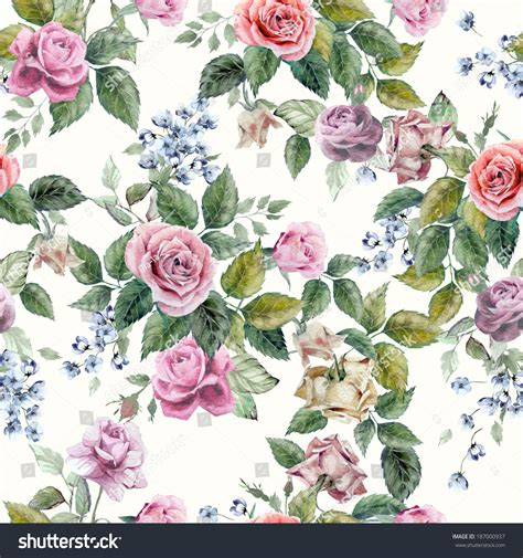 hd purple shadow florals seamless pattern background seamless floral pattern red purple pink stock illustration