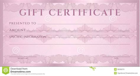 blank gift certificate templates best photos of certificate gift voucher template