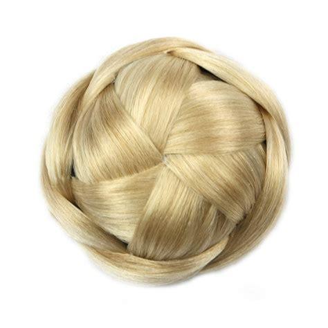 synthetic fiber hair bun black soloowigs high temperature fiber synthetic hair pieces