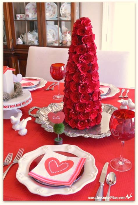 valentine table decorations decorating the table for a valentine s day celebration