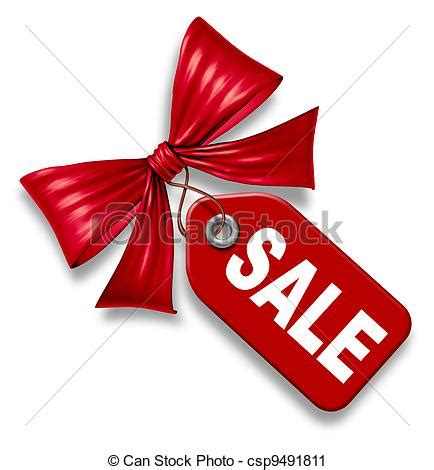 sale price tag with red ribbon bow tie sale price tag
