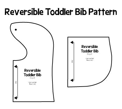 picking pattern when you say nothing at all reversible baby bib tutorial and pattern jroxdesigns