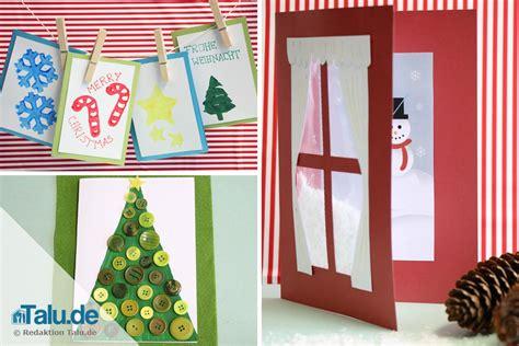 Weihnachtskarten Kinder Basteln by Weihnachtskarten Basteln Mit Kindern Diy Tutorial Talu De
