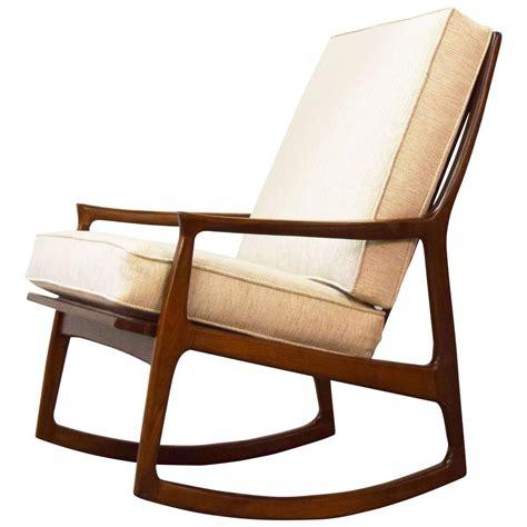 milo baughman chair milo baughman archie walnut rocking lounge chair at 1stdibs