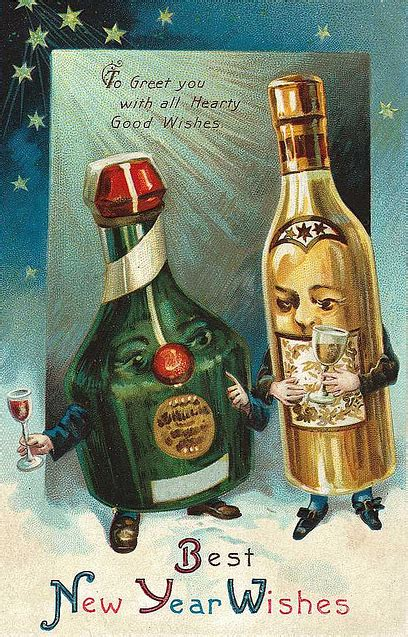 vintage happy new year postcards costume artist