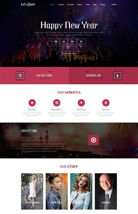 bootstrap templates for entertainment bootstrap website templates free download 2017