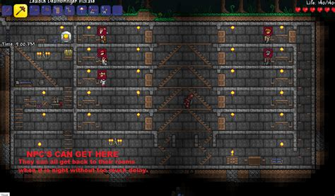 How To Open Doors In Terraria by Terraria Can Npcs Jump On Wooden Planks Arqade