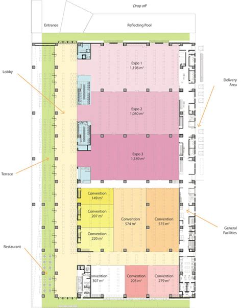 convention center floor plan los cabos international convention center fr ee fernando romero enterprise archdaily