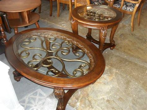 Norcastle Coffee Table Gorgeous Furniture Norcastle Oval Coffee Table End Table Set 275 Quality Used