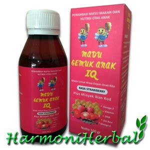 Madu Gemuk Anak Iq Strawberry madu gemuk anak iq rasa strawberry harmoni herbal