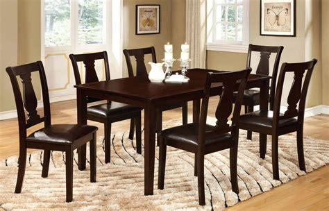 espresso dining table set bridle i espresso 7 dining table set from furniture