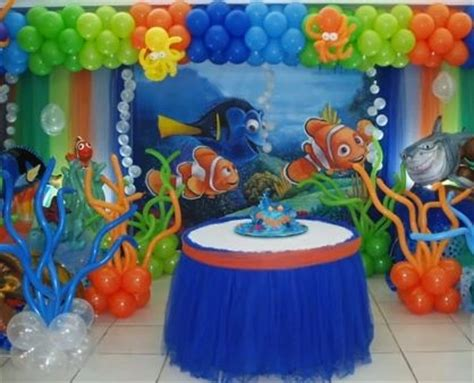 Nemo Decorations by Finding Nemo Cake Table Balloon Decorations Balloon