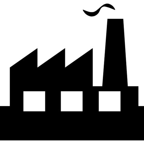 manufacturing symbols factory free buildings icons