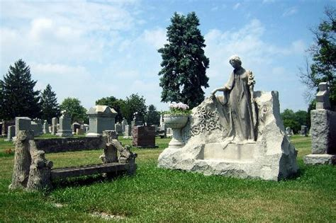 Cemetery Planters by Monument With Planter Urn Bench And Figure Picture Of
