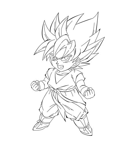 Dragon Ball Z Goku Super Saiyan 3 Coloring Pages Goku Saiyan 3 Coloring Pages
